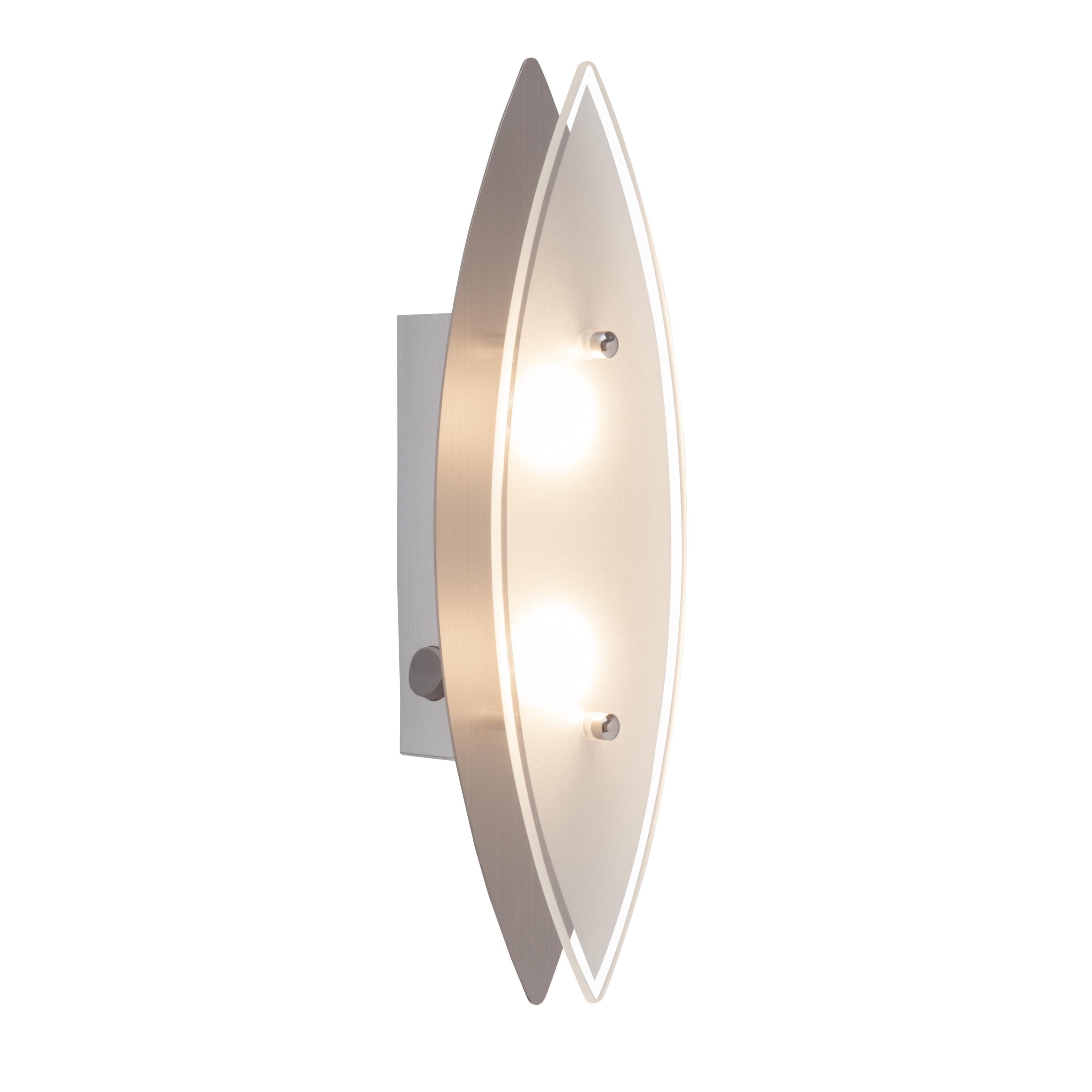 Brilliant Leuchten Oval LED Wandleuchte Schalter eisen
