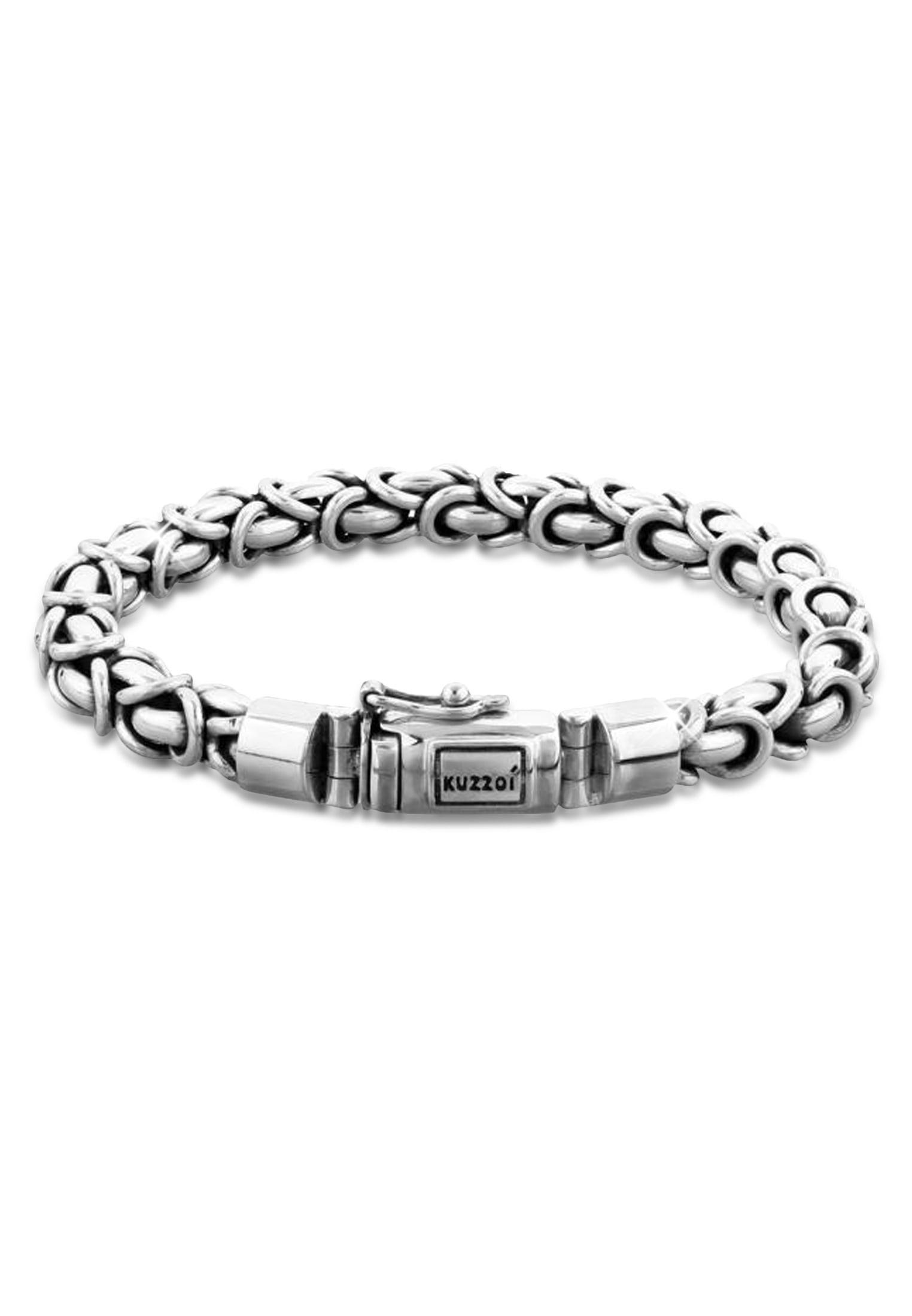 Kuzzoi Armband Herren Panzerarmband Königskette Basic 925 Silber | Schmuck > Armbänder > Silberarmbänder | Kuzzoi