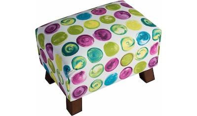 Max Winzer® Fußhocker »Footstool«, Minihocker Breite 40 cm, mit bunten Punkten kaufen