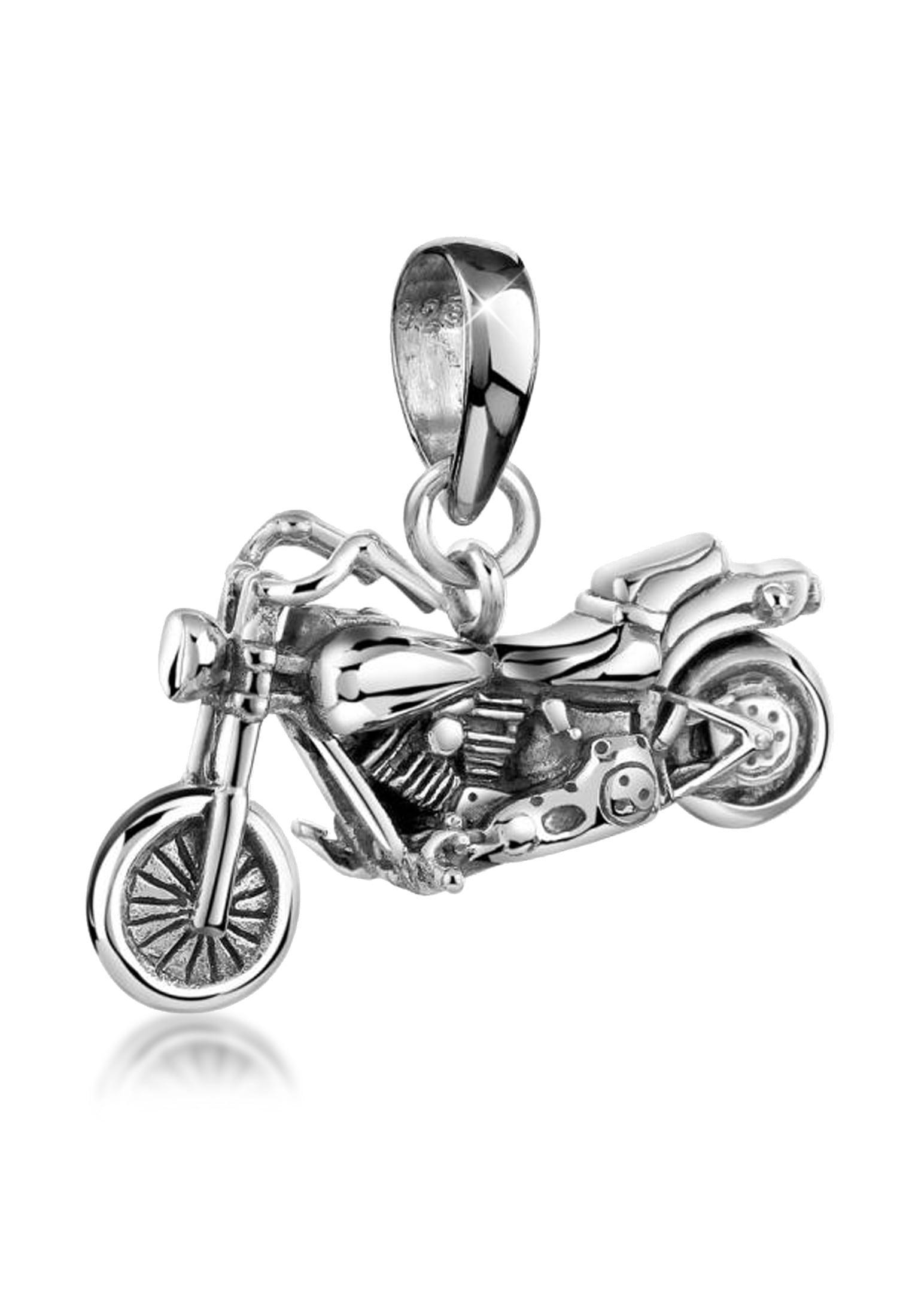 Kuzzoi Kettenanhänger Herren Motorrad Bike Kettenanhänger 925er Silber | Schmuck > Halsketten > Ketten ohne Anhänger | Kuzzoi