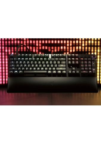 RAZER Gaming-Tastatur »Huntsman V2 Analog - DE«, (Multimedia-Tasten-Handgelenkauflage-Ziffernblock-USB-Anschluss) kaufen