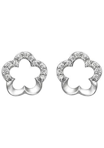 JOBO Paar Ohrstecker »Blume«, 925 Silber mit 22 Zirkonia kaufen
