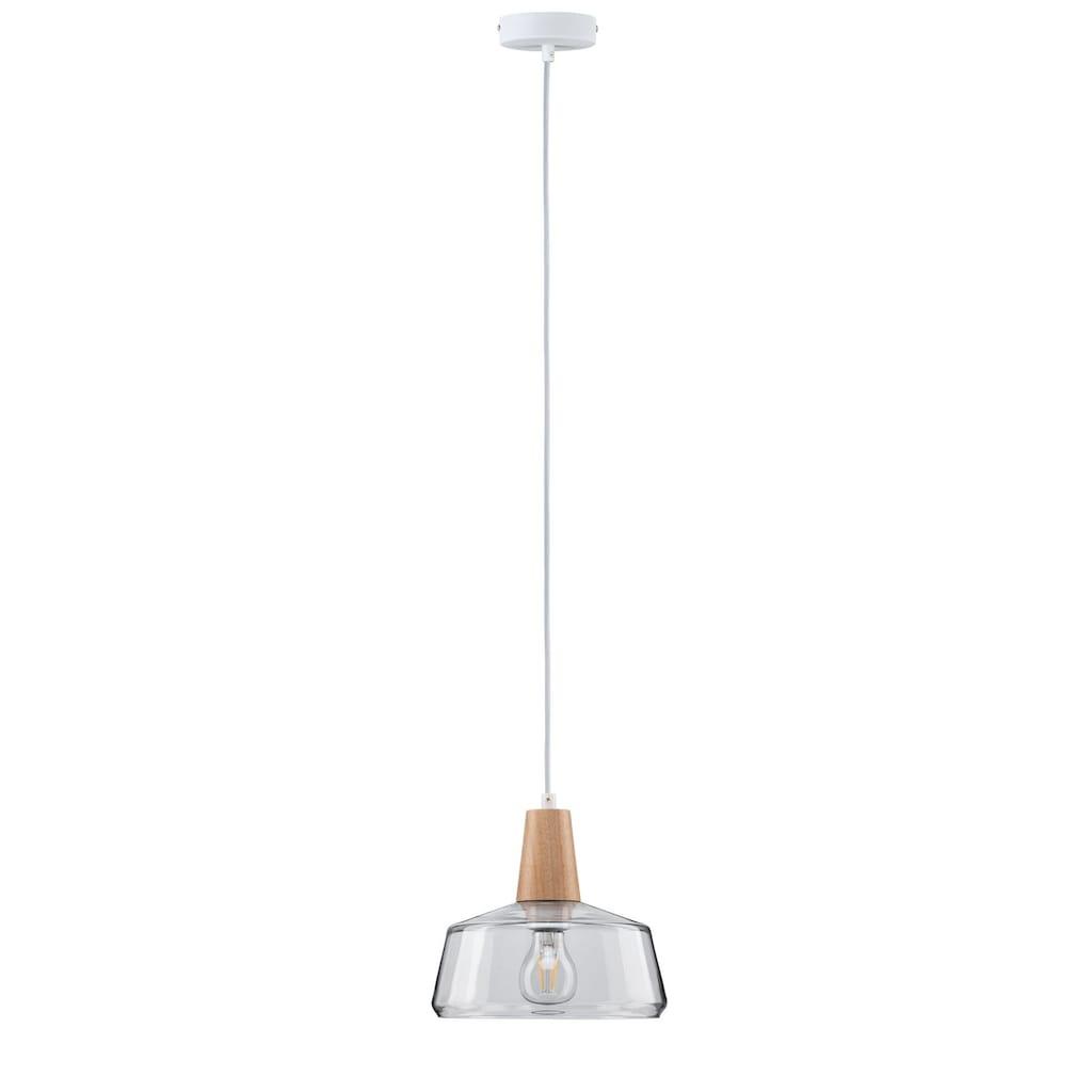 Paulmann LED Pendelleuchte »Neordic Ylvie Glas/Holz max. 20W E27«, E27, 1 St.