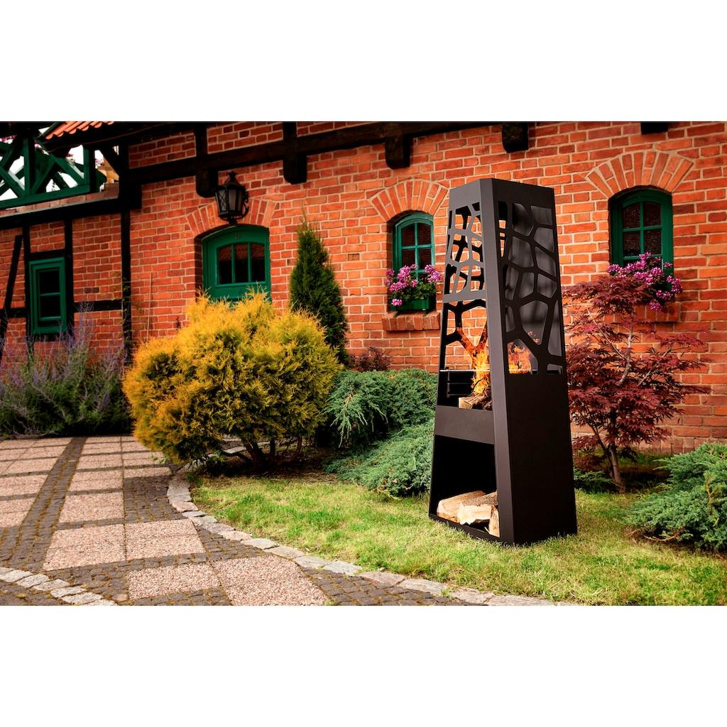 DOBAR Gartenkamin »XXL«, B/T/H: 57,5/38/148 cm, inkl. Grillrost