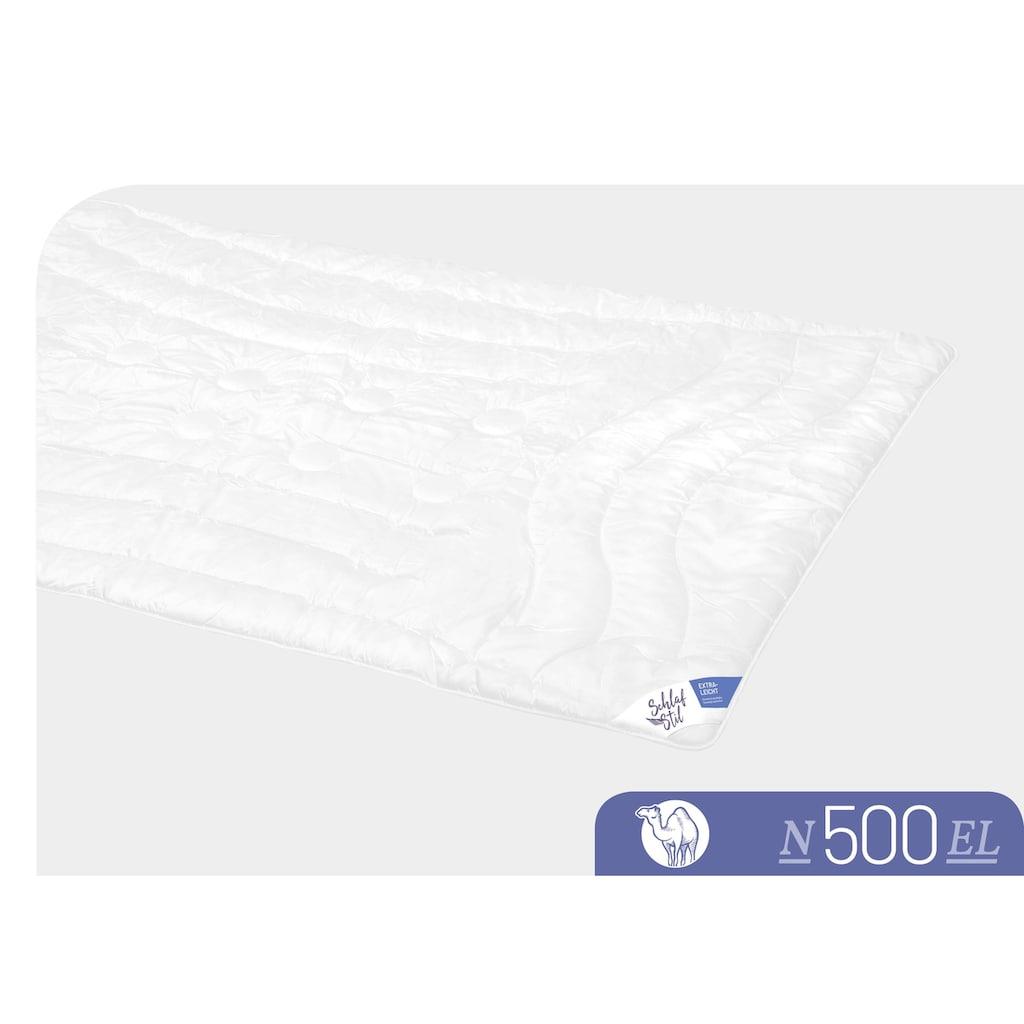 Schlafstil Naturhaarbettdecke »N500«, extraleicht, (1 St.), hergestellt in Deutschland, allergikerfreundlich