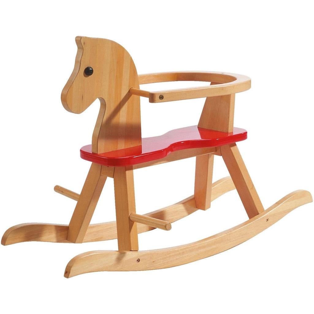 roba® Schaukelpferd »Natur/Rot«, aus Holz