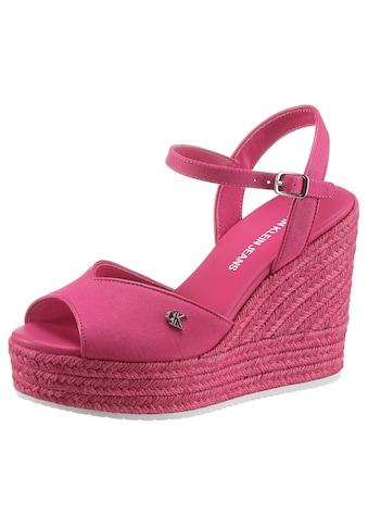 Calvin Klein High-Heel-Sandalette, mit verstellbarer Schnalle kaufen