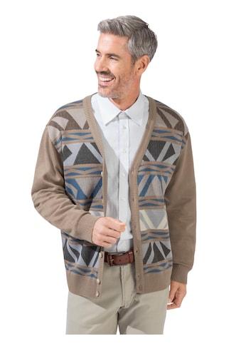 Marco Donati Strickjacke mit aufwändigem Jacquard - Muster im Vorderteil kaufen