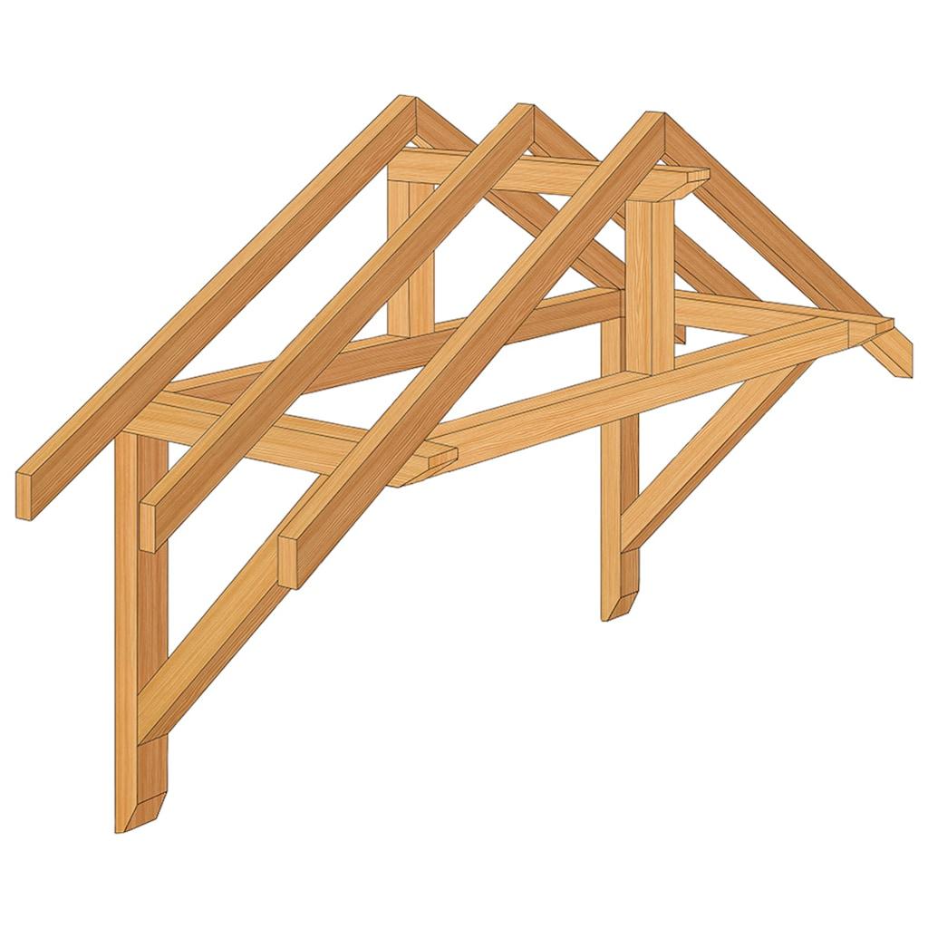 RORO Türen & Fenster Balken-Vordach »Typ V161«, BxT: 205x125 cm