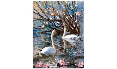 Artland Glasbild »Sommer im Schwanensee«, Vögel, (1 St.) kaufen