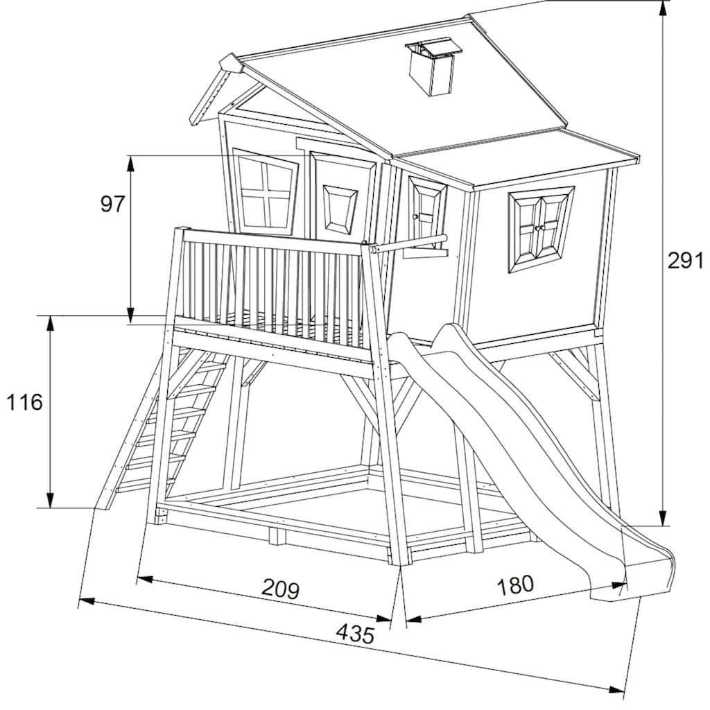 AXI Spielturm »Max«, BxTxH: 432x193x288 cm