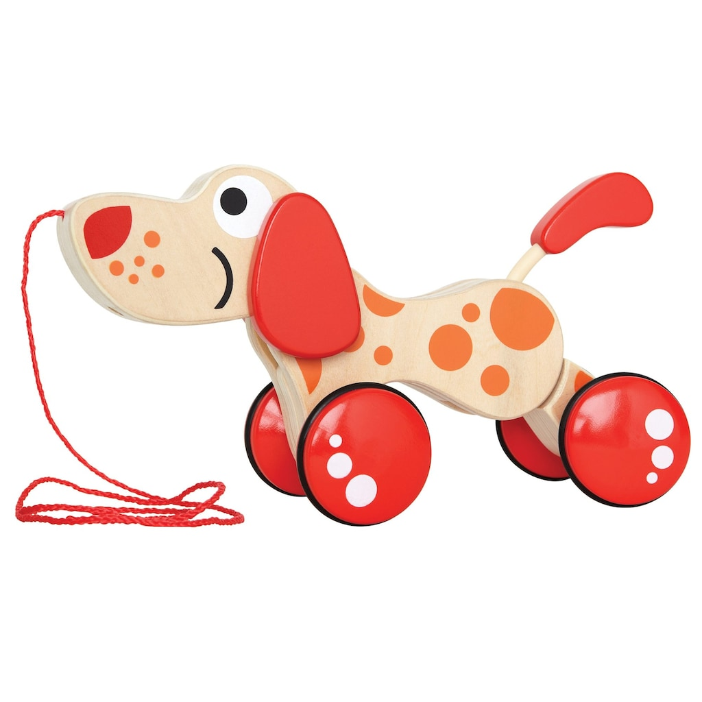 Hape Nachziehtier »Hündchen Puppy«, Fördert Feinmotorik, Koordination und Vorstellungskraft