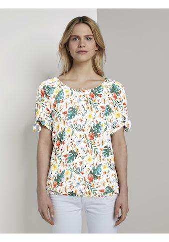 TOM TAILOR T - Shirt »Carmen T - Shirt mit Blumenprint« kaufen