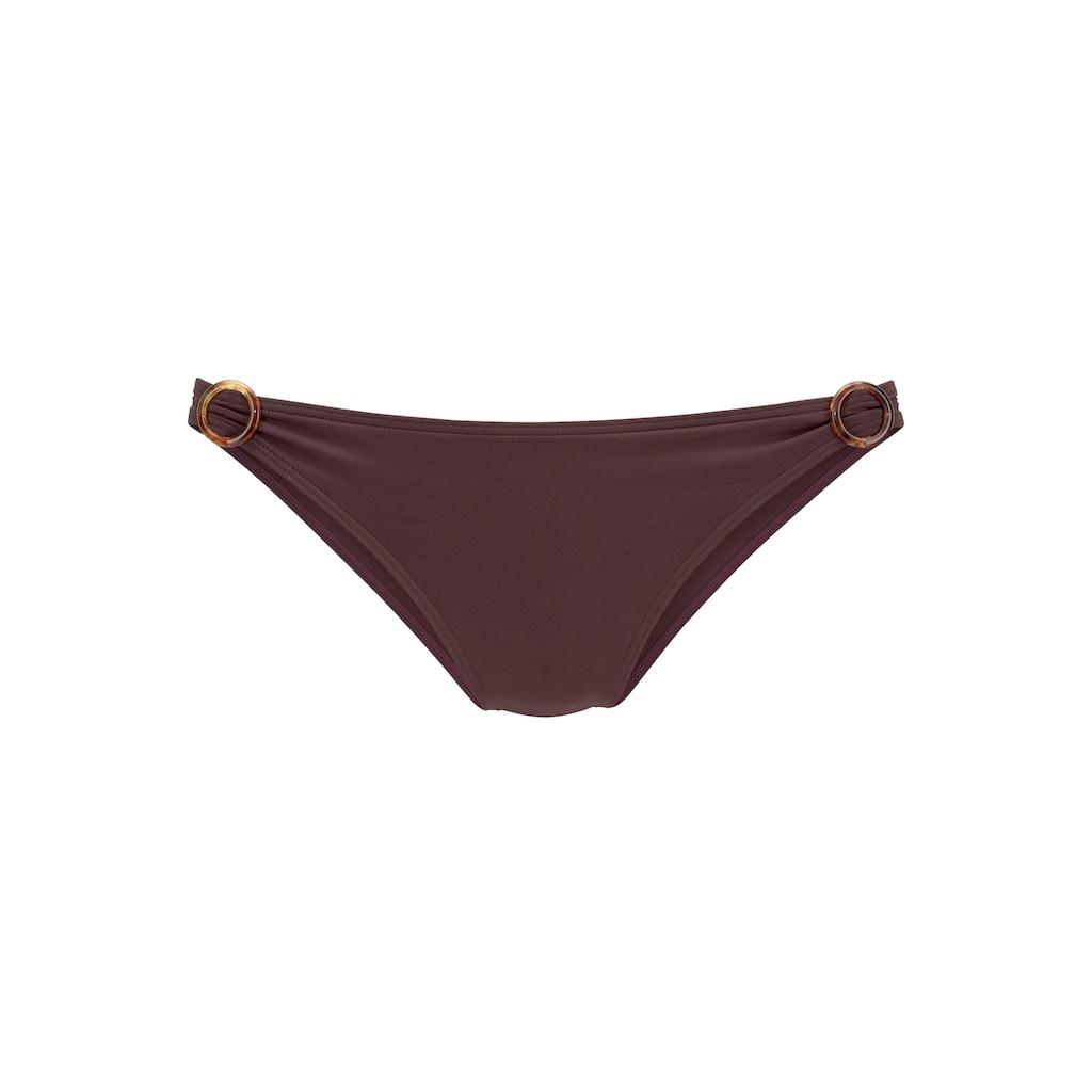 s.Oliver Beachwear Bikini-Hose »Rome«, mit Zierringen