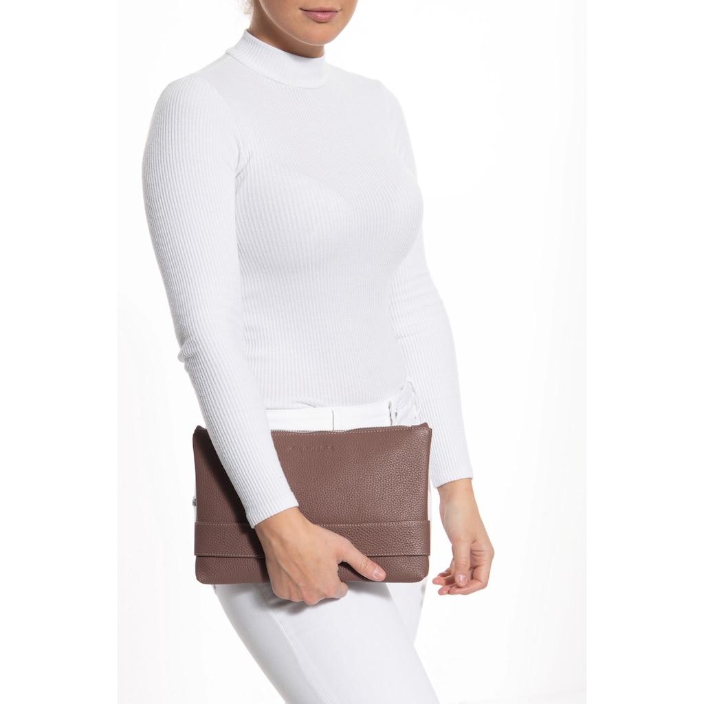 ATT Jeans Umhängetasche, mit abnehmbarem Schulterriemen, Hochwertiges Echt Leder