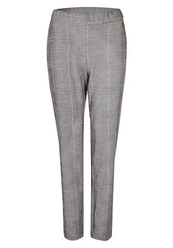 VIA APPIA Modische Stoffhose mit angesagtem Glencheck - Muster Plus Size kaufen