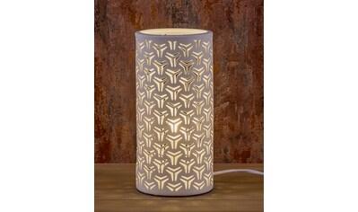 HGD Holz - Glas - Design Porzellanlampe - Zylinder Fantasie kaufen