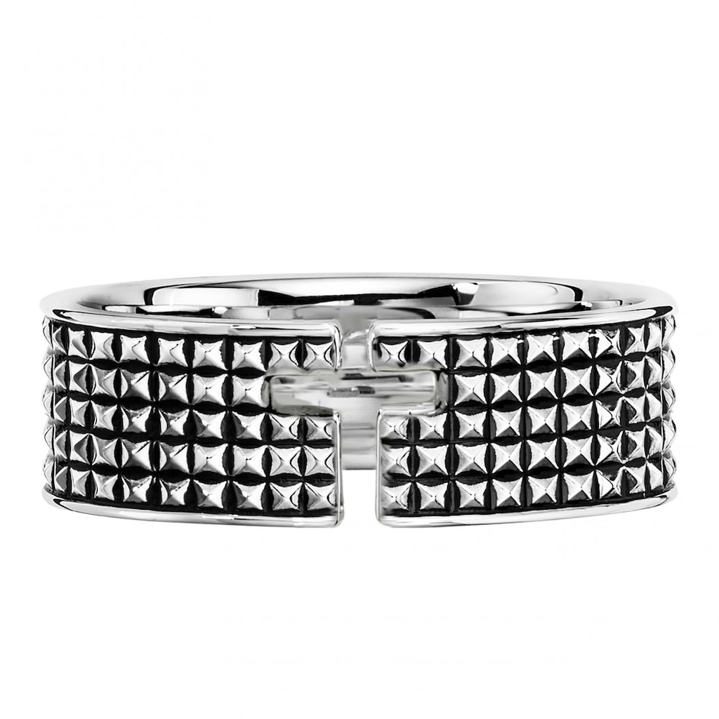 CAÏ Silberring »925/- Sterling Silber rhodiniert Kreuz«, mit Geschenketui