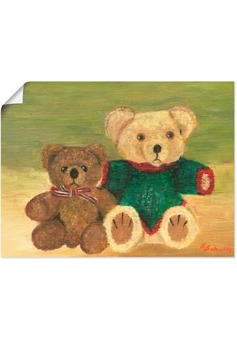 Artland Wandbild »Bär«, Spielzeuge, (1 St.), in vielen Größen & Produktarten - Alubild... kaufen