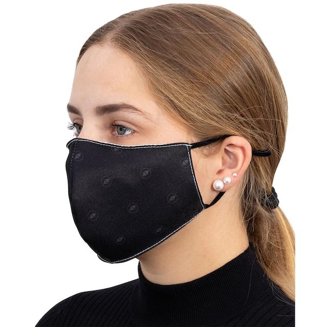 Packung: Community-Maske »TERRAX«, schwarz, 5 Stück, waschbar