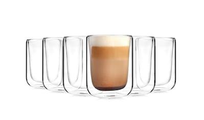 SÄNGER Thermobecher »Cappu«, (6 tlg., 6 teiliges Cappuccino-Gläser Set) kaufen