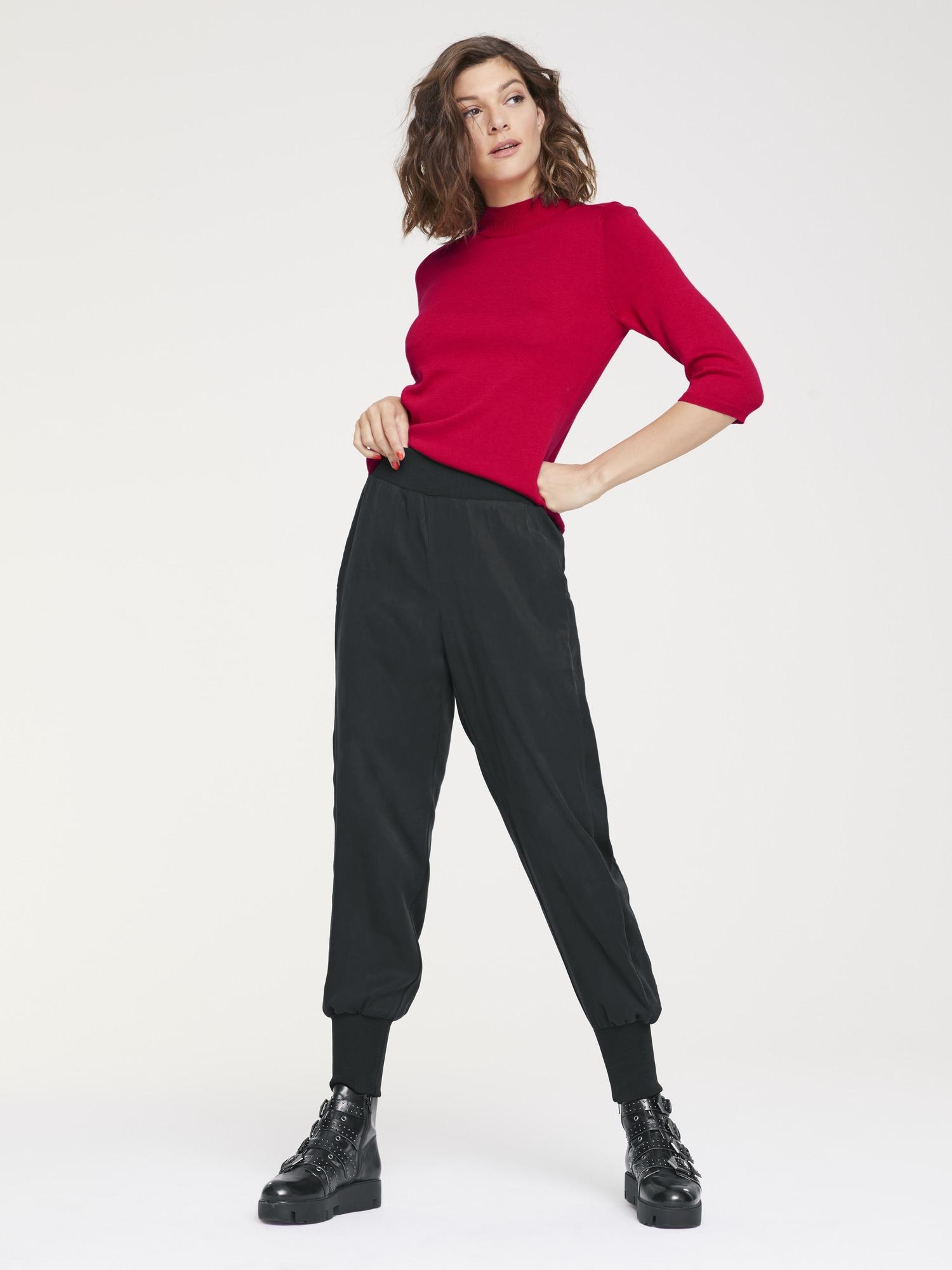 heine STYLE Stehkragenpullover mit 3/4 Ärmeln | Bekleidung > Pullover > Stehkragenpullover | Rot | heine