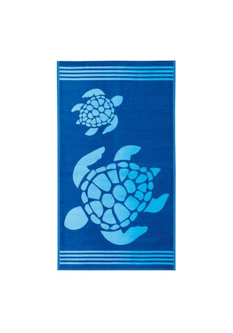 Delindo Lifestyle Strandtuch »Tropical«, (1 St.), mit jacquard-gewebtem Motiv Turtle kaufen