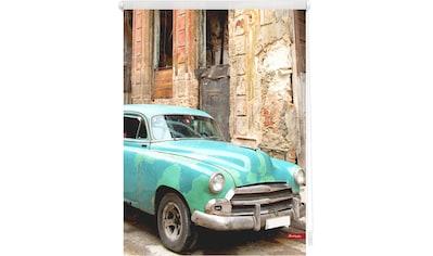 LICHTBLICK Seitenzugrollo »Klemmfix Motiv Kuba«, Lichtschutz, ohne Bohren, freihängend, bedruckt kaufen