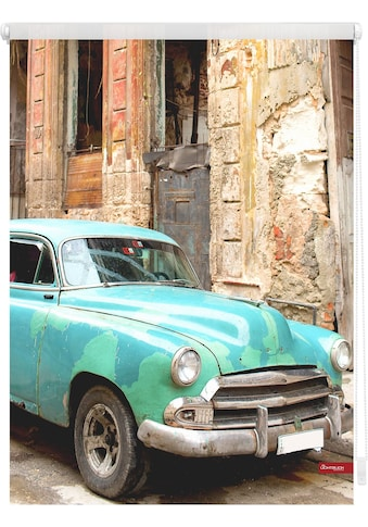 Seitenzugrollo »Klemmfix Motiv Kuba«, LICHTBLICK, Lichtschutz, ohne Bohren, freihängend kaufen