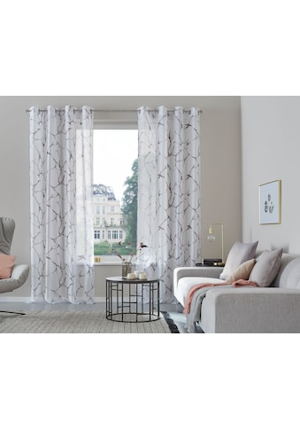 Gardine, »Fulda«, my home, Ösen 2 Stück kaufen