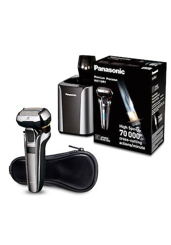Panasonic Elektrorasierer »ES-LV9Q-S803«, Langhaartrimmer, mit ultraflexiblem 5D-Scherkopf, Nass- und Trockenrasierer mit Reinigungsstation kaufen