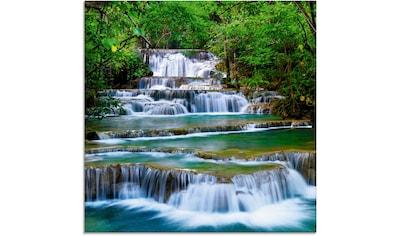 Artland Glasbild »Tiefen Wald Wasserfall«, Gewässer, (1 St.) kaufen