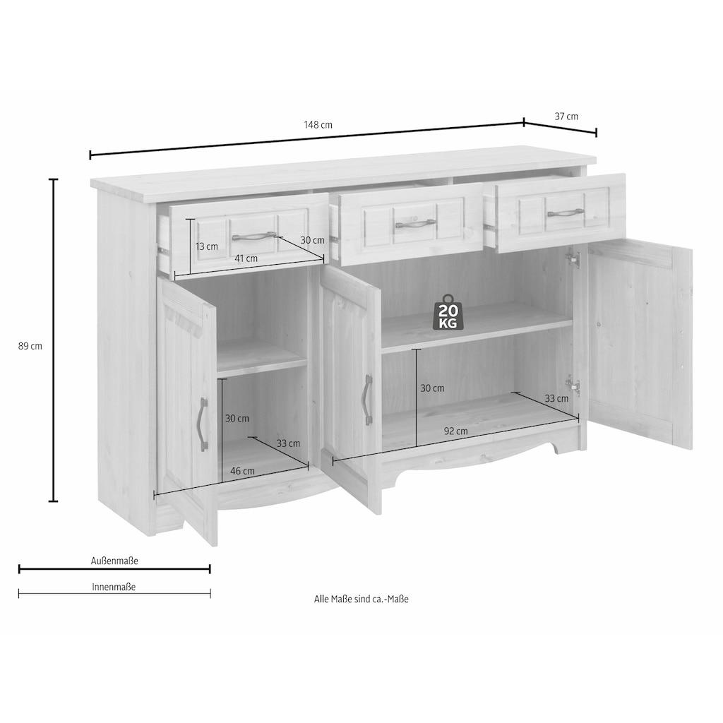 Home affaire Sideboard »Trinidad«, Breite 148 cm