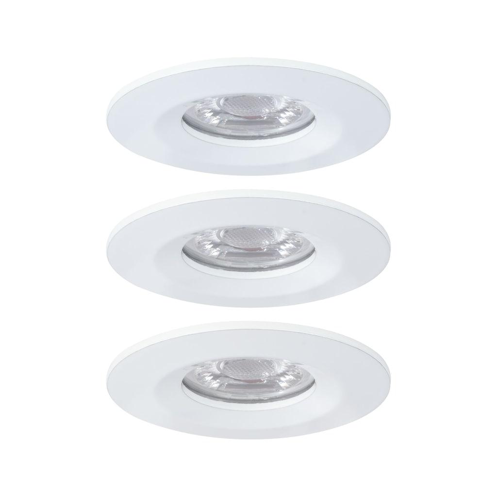Paulmann LED Einbaustrahler »3er-Set Nova mini starr IP44 3x4W 2.700K Weiß matt 230V«, 3 St., Warmweiß