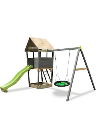 Exit Spielturm »Aksent«, B/H/T: 320/296/323 cm, Nestschaukel + Rutsche kaufen