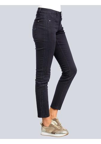 Alba Moda Jeans mit funkelnden Strass-Steinen kaufen
