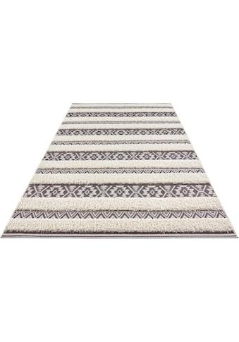 MINT RUGS Teppich »Temara«, rechteckig, 22 mm Höhe, Hoch-Tief-Struktur, Wohnzimmer kaufen