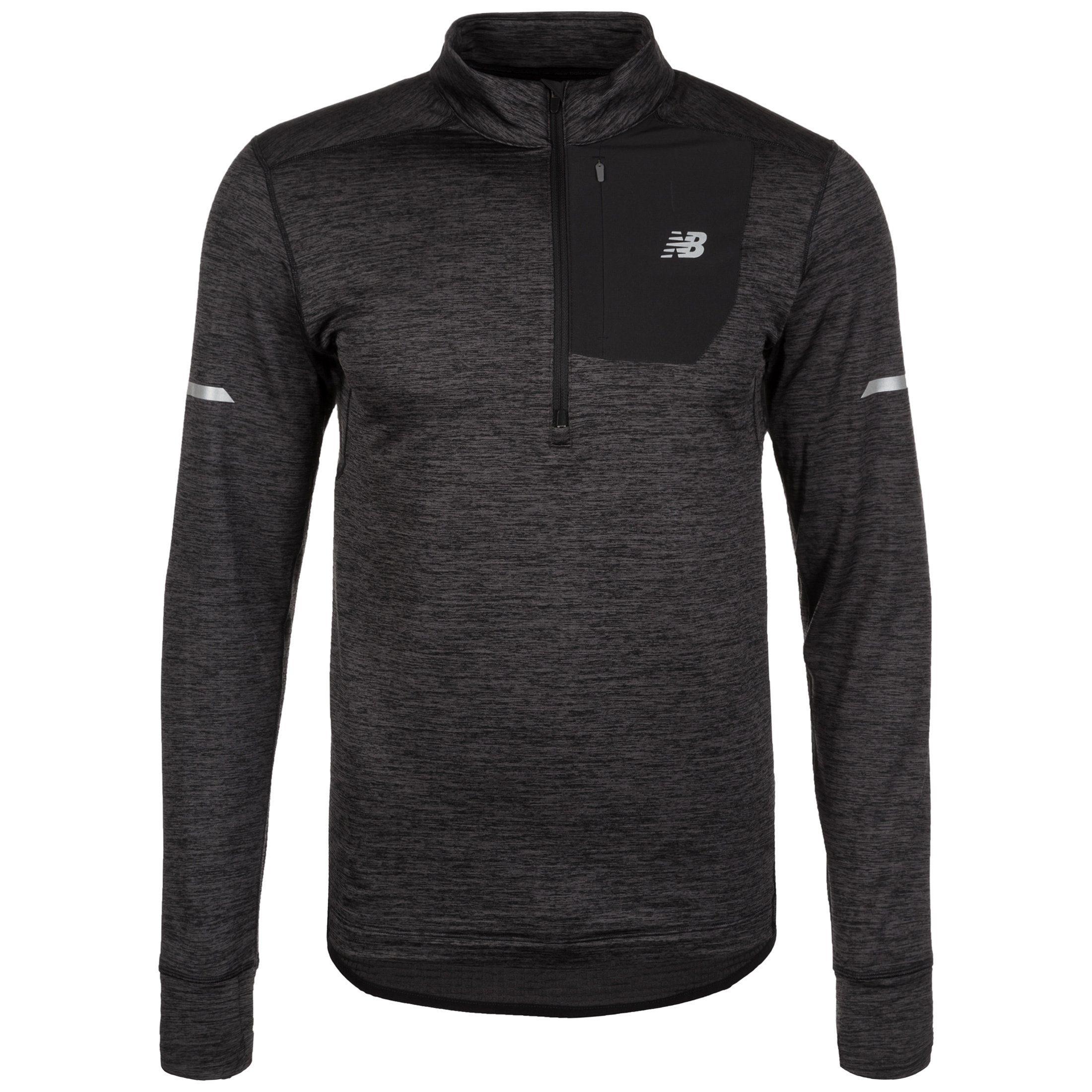 New Balance Laufshirt Heat Quarter-zip | Sportbekleidung > Sportshirts > Laufshirts | Grau | New Balance