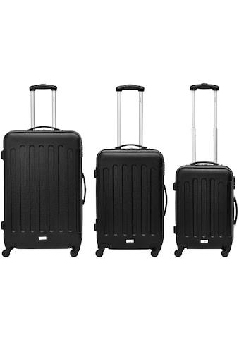 """Packenger Trolleyset """"Travelstar, Schwarz"""", 4 Rollen, (3tlg.) kaufen"""