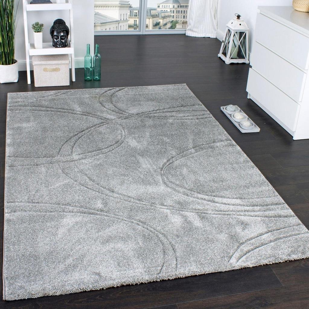 Paco Home Teppich »Brilliance 757«, rechteckig, 18 mm Höhe, Kurzflor mit 3D-Muster, Wohnzimmer