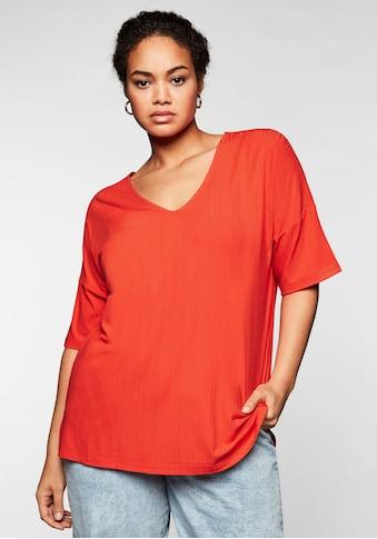 Sheego T-Shirt, im dezenten Streifenlook kaufen