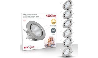 B.K.Licht LED Einbaustrahler, GU10, 6 St., Warmweiß, LED Einbauleuchte schwenkbar Nickel matt Decken-Spot Einbau-Leuchte GU10 inkl. 5W 400lm kaufen