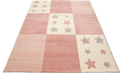 Lüttenhütt Kinderteppich »Tilly«, rechteckig, 14 mm Höhe, Motiv Sterne, Pastellfarben,... kaufen