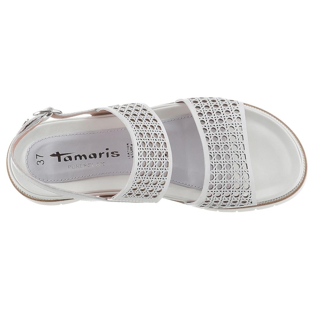 Tamaris Sandale »PureRelax«, mit sommerlichen Lasercut