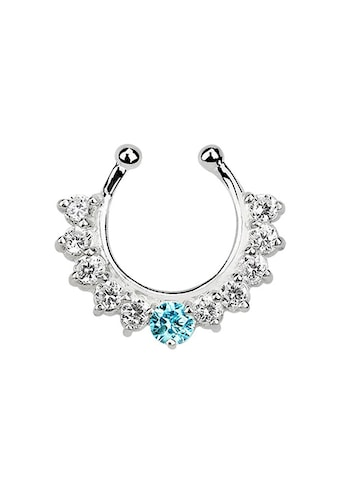 Adelia´s Nasenpiercing »Nasenpiercing Fake Ring Septum Silber mit 11 Steinen«, Mit 11... kaufen