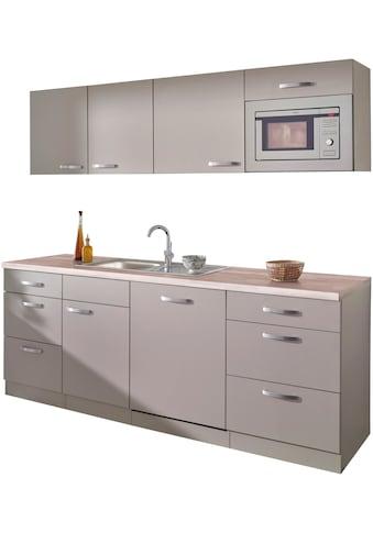 wiho Küchen Küchenzeile »Kansas«, mit E - Geräten, Breite 220 cm kaufen