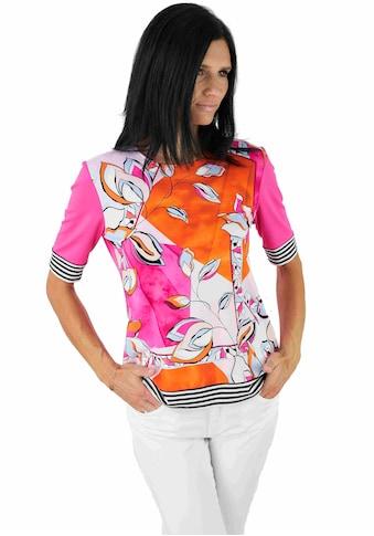 Seidel Moden Print-Shirt, bedrucktes Vorderteil, unifarbener Rücken, Made in Germany kaufen