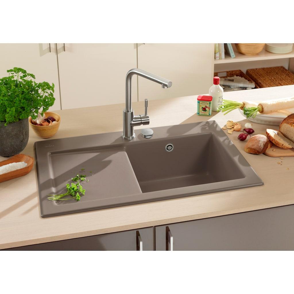 Villeroy & Boch Küchenspüle »Subway 45«, inkl. Ablaufgarnitur mit Excenterbetätigung, 780 x 510 mm