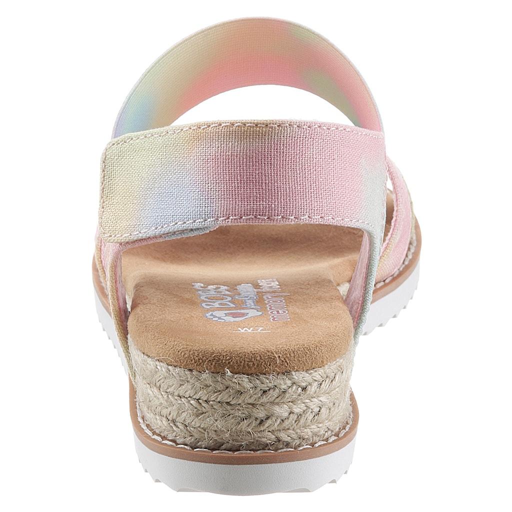 Skechers Keilsandalette »DESERT KISS - SUNSET FESTIVAL«, im farbenfrohen Design