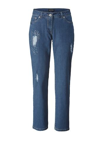 Sara Lindholm by Happy Size Slim Fit Jeans mit Strass kaufen